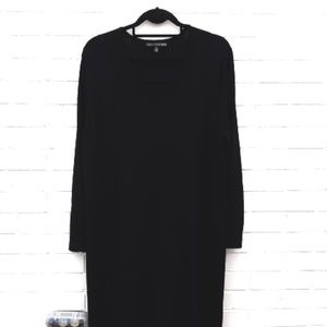 Nina Leonard Black Knit Dress